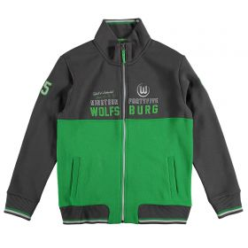 VfL Wolfsburg Track Jacket - Black/Green - Boys