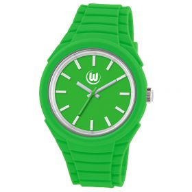 VfL Wolfsburg Analogue Silicon Watch - Green