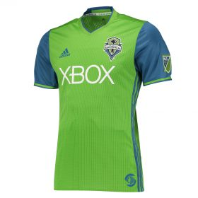Seattle Sounders Authentic Home Shirt 2016-17 with Mathers 32 printing