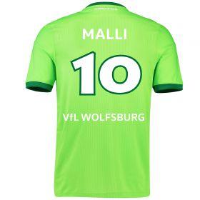 VfL Wolfsburg Home Shirt 2016-17 with Malli 10 printing