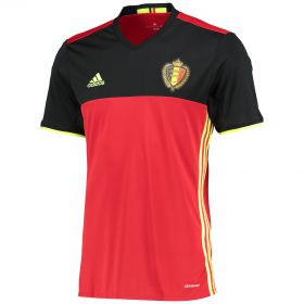 Belgium Home Shirt 2016 Red with Lukaku 9 printing