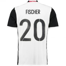 Denmark Away Shirt 2016 White with Fischer 20 printing