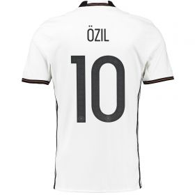 Germany Home Shirt 2016 White with Ozil 8 printing
