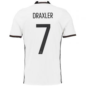 Germany Home Shirt 2016 White with Draxler 11 printing