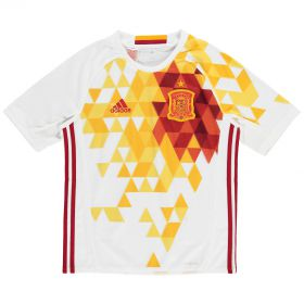 Spain Away Shirt 2016 - Kids with A.Iniesta 6 printing