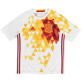 Spain Away Shirt 2016 - Kids with David Silva 21 printing