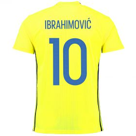 Sweden Home Shirt 2016 - Kids with Ibrahimovic 10 printing