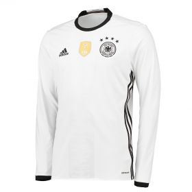 Germany Home Shirt 2016 - Long Sleeve White with Schweinsteiger 7 printing