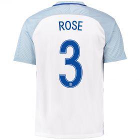England Home Shirt 2016 with Rose 3 printing
