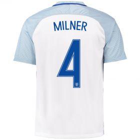 England Home Shirt 2016 with Milner 4 printing