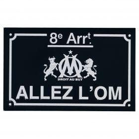 Olympique de Marseille Allez L'OM Metal Sign - 19 x 12cm