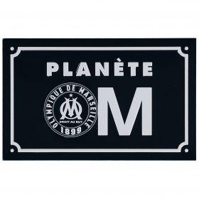 Olympique de Marseille Planete Metal Sign - 19 x 12cm