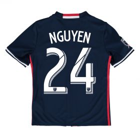 New England Revolution Home Shirt 2016 - Kids with Lee Nguyen 24 printing