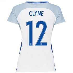 England Home Shirt 2016 - Womens with Clyne 12 printing