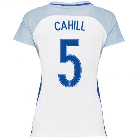 England Home Shirt 2016 - Womens with Cahill 5 printing