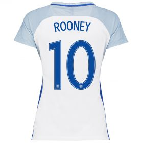 England Home Shirt 2016 - Womens with Rooney 10 printing