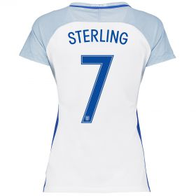 England Home Shirt 2016 - Womens with Sterling 7 printing