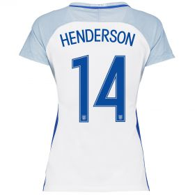 England Home Shirt 2016 - Womens with Henderson 14 printing