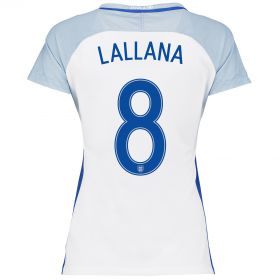 England Home Shirt 2016 - Womens with Lallana 8 printing