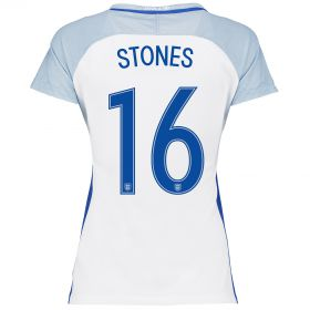 England Home Shirt 2016 - Womens with Stones 16 printing