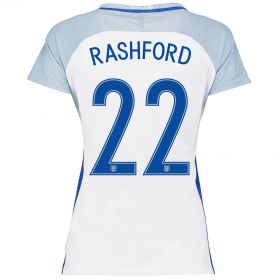 England Home Shirt 2016 - Womens with Rashford 22 printing