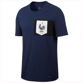 France Crest T-Shirt - Navy