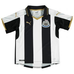 Newcastle United Home Shirt 2016-17- Kids with Shelvey 12 printing
