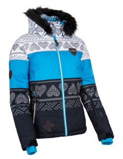 KILPI Дамско пухено ски яке EUFANA - Синьо