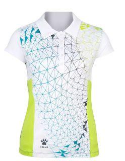 Kelme Тениска SRA Women Tennis Polo 74914-467 Graphite - Бяла