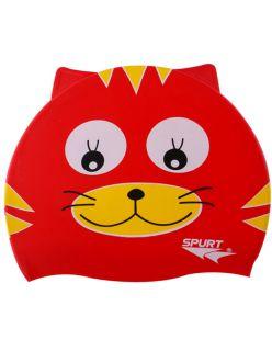Spurt Детска шапка за плуване Red Cat - Червено