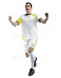 KELME Детски Футболен екип Cartago Set JR 78411-143 White Yellow - Бяло