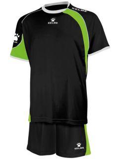 KELME Детски Футболен екип Cartago Set JR 78411-586 Black Lime - Черно