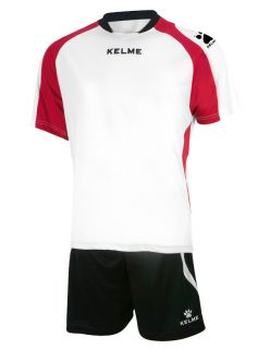 KELME Футболен екип Saba Set SR 78412-140 White Red - Бяло