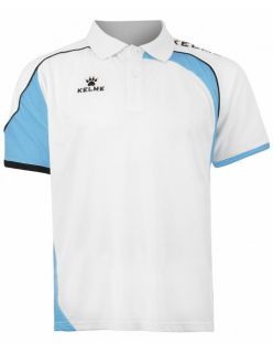 Kelme Блуза с къс ръкав Cartago S/S Polo 78413-62 White Light Blue - Бяло/Синьо