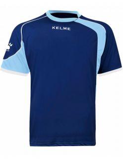 Kelme Тениска Cartago S/S T-Shirt 78415-250 Navy Light Blue - Синьо
