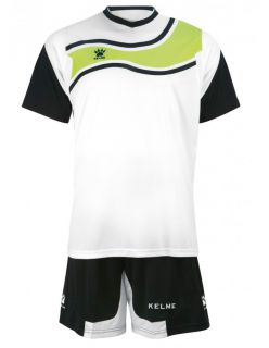 KELME Футболен екип Suriname Set JR 78417-61 White Black - Черно