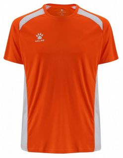 KELME Детски Тениска Millennium S/S Jersey JR 78434-209 Orange White - Оранжево