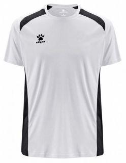 KELME Детска Тениска Millennium S/S Jersey JR 78434-61 White Black - Бяло