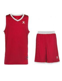 Kelme Баскетболен екип Over Set Basketball 80702-129 Red White - Червено