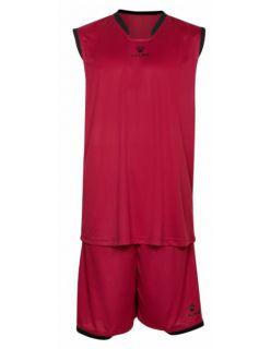 Kelme Баскетболен екип Basket Set III Sleeveless Jersey+Short 80947-130 Red - Червено