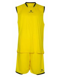 Kelme Баскетболен екип Basket Set III Sleeveless Jersey+Short 80947-151 Yellow - Жълто