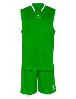 Kelme Баскетболен екип Basket Set III Sleeveless Jersey+Short 80947-73 Green - Зелено