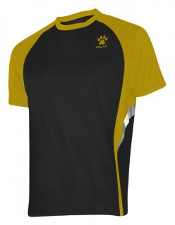 Kelme Тениска Gravity Athletics S/S Training T-Shirt 87253-91 Black Gold - Черна