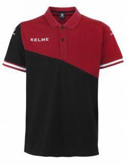 Kelme Блуза с къс ръкав Polo MC Sur S/S 93097-148 Black Red - Черно