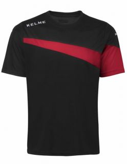 Kelme Тениска MC Sur S/S Training T-Shirt 93102-148 Black Red - Черно