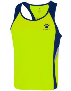 Kelme Потник Gravity Athletics Competition Sleeveless T-Shirt 87254-665 Limon Navy - Жълто