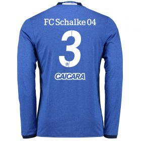 Schalke 04 Home Shirt 2016-17 - Long Sleeve with Ciacara 3 printing