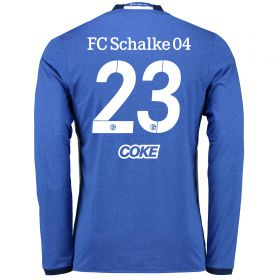 Schalke 04 Home Shirt 2016-17 - Long Sleeve with Coke 23 printing