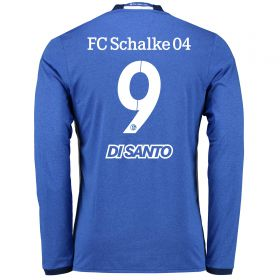Schalke 04 Home Shirt 2016-17 - Long Sleeve with Di Santo 9 printing