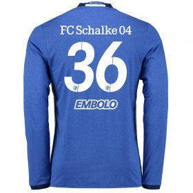 Schalke 04 Home Shirt 2016-17 - Long Sleeve with Embolo 36 printing